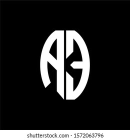 AE logo monogram designs template isolated on black background