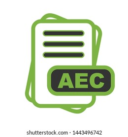 AEC File Format Icon  For Your Project
