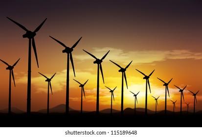 Aeolian field and  wind turbines