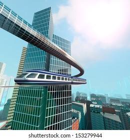 aerial view of Futuristic City
