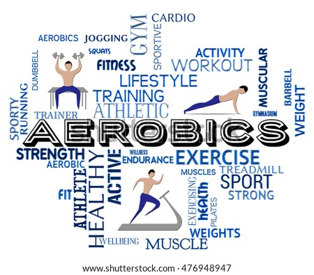5ea57e26c88 Aerobics Fitness Meaning Getting Fit Gym Stock Illustration ...