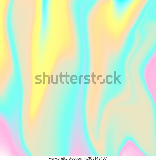 Aesthetic Art Holographic Foil Pastel Pink Stock Illustration 1308140437