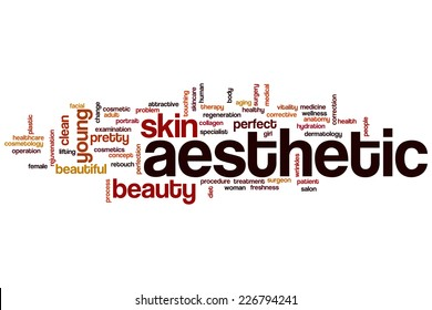 Aesthetic word cloud concept