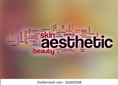Aesthetic word cloud concept with abstract background