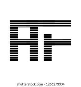 af letter design illustration