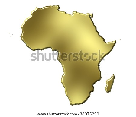 3d Map Of Africa Project.Africa 3 D Golden Map Stock Illustration 38075290 Shutterstock
