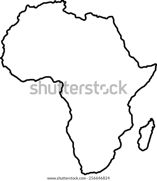 Africa Blank Map Stockillustration 256646824