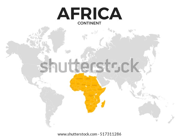 africa political map without names Africa Continent Location Modern Detailed Map Stock Illustration africa political map without names