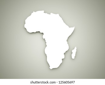 Africa continent on dark background