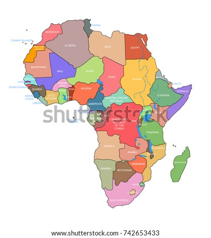 Africa Map And Countries.Royalty Free Stock Illustration Of Africa Map Countries Name On