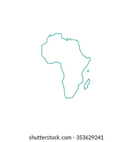 Africa Continent Outline Images Stock Photos Vectors Shutterstock