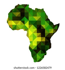 Africa Map in triangular shapes
