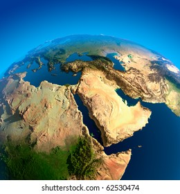 Africa, Red Sea, Persian Gulf, the view from the satellites