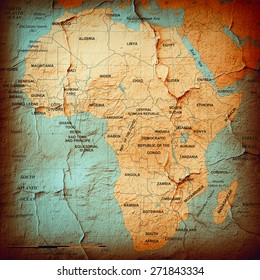 Africa,continent, map and wall background