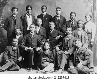 African American academic students at Roger Williams University in Nashville, Tennessee, ca. 1899. Ca. 1899.