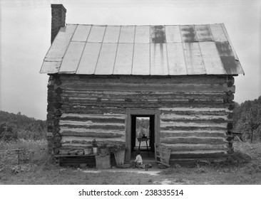 African American sharecropper house with child on steps, North Carolina, photograph by Dorothea Lange, July, 1939.