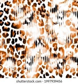 African Animal Prints. Vintage Natural Pattern. Black Exotic Animal Pattern.Textile Clothing Design.