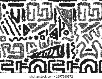 African athnic black and white pattern