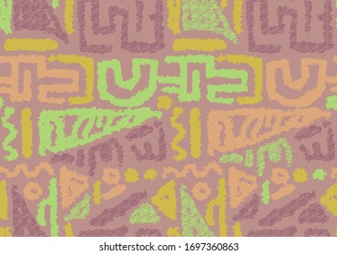 African ethnic pattern in hand draw style