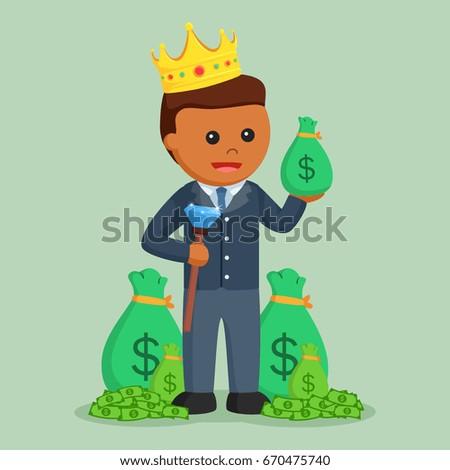 African King Businessman Money Stock Illustration 670475740
