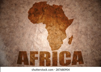 african map on vintage paper background