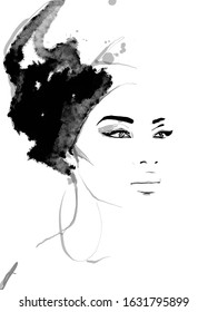 African queen painting of face