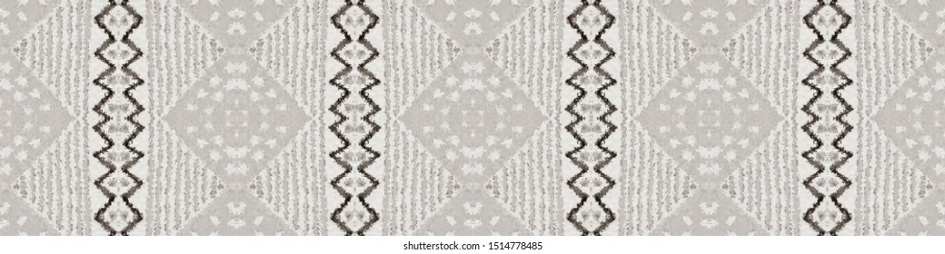 African Repeat Pattern. Jet Never-Ending Cherokee Style. Milky Mayan Fabric. Ebon Zigzag Illustration. White Navajo Texture. Onyx African Repeat Pattern.