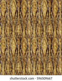 African style Art Deco golden orange pattern