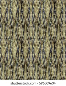 African style Art Deco greenish pattern
