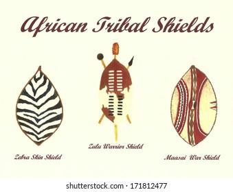 Zulu Shield Images, Stock Photos & Vectors | Shutterstock