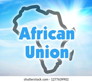 African Union, AU. Economic and political organization of states of Africa