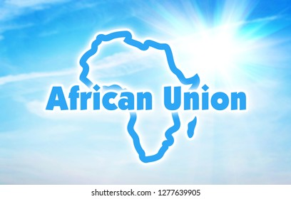 African Union, AU. International economic and political organization of countries of Africa