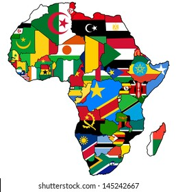 Africa Nations Map.African Nations Map Images Stock Photos Vectors