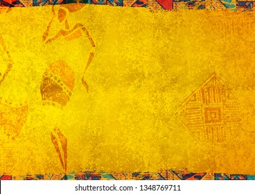 african yellow background texture concept  culture colorful pattern mexico
