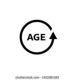 Age Icon isolated on white. illustration