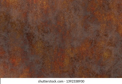 aged iron corroded rusty plate