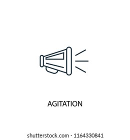 agitation concept line icon. Simple element illustration. agitation concept outline symbol design from Elections set. Can be used for web and mobile UI/UX