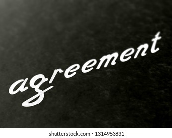 Agreement. 3D Illustration.