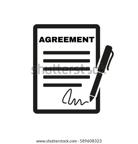 agreement icon contract signature pact accordのイラスト素材