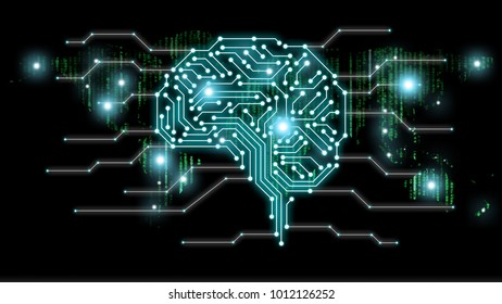 AI (artificial intelligence) concept, machine learning, nanotechnologies and another modern technologies concepts, Industry 4.0 concept with various icon of smart city and global network technology