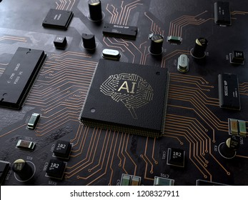 AI, Artificial Intelligence,3d rendering,conceptual image.