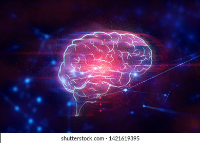 ai brain technology robotic system, atom cell plexus and science, abstract futuristic cyber network server online, background illustration 3d rendering, hacker to security, data deep learing