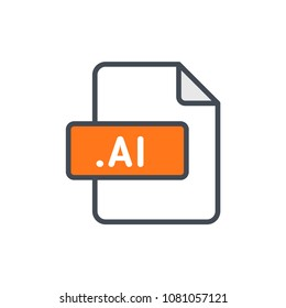 ai file format document type colored icon illustration raster