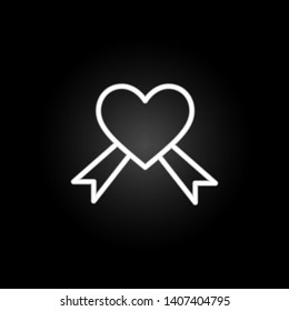 AIDS, heart  neon icon. Elements of Heartbeat set. Simple icon for websites, web design, mobile app, info graphics