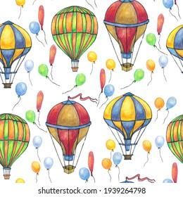 Air balloon transport sky flight pattern 6