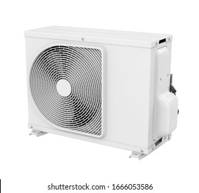 Air Conditioner Outdoor Unit Isolated. 3D rendering