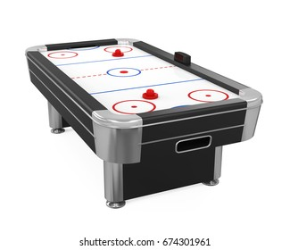 Air Hockey Table Isolated. 3D rendering