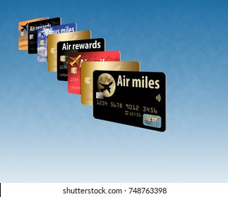 Air miles credit card. A credit card that provides air rewards and bonus miles.