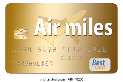 Air miles credit card images stock photos vectors shutterstock air miles air rewards credit card reheart Image collections