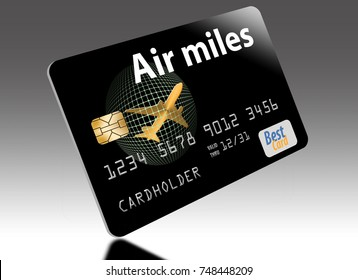 Air miles, air rewards credit card.